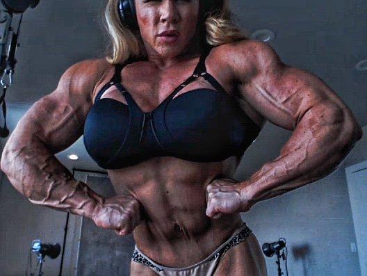 aleesha Huge female young bodybuilder