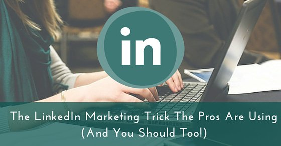 The #LinkedIn marketing trick that #socialmedia Pro @NealSchaffer uses, and you should too https://t.co/Vsr6l2UFHy https://t.co/Bv08eAxvEI