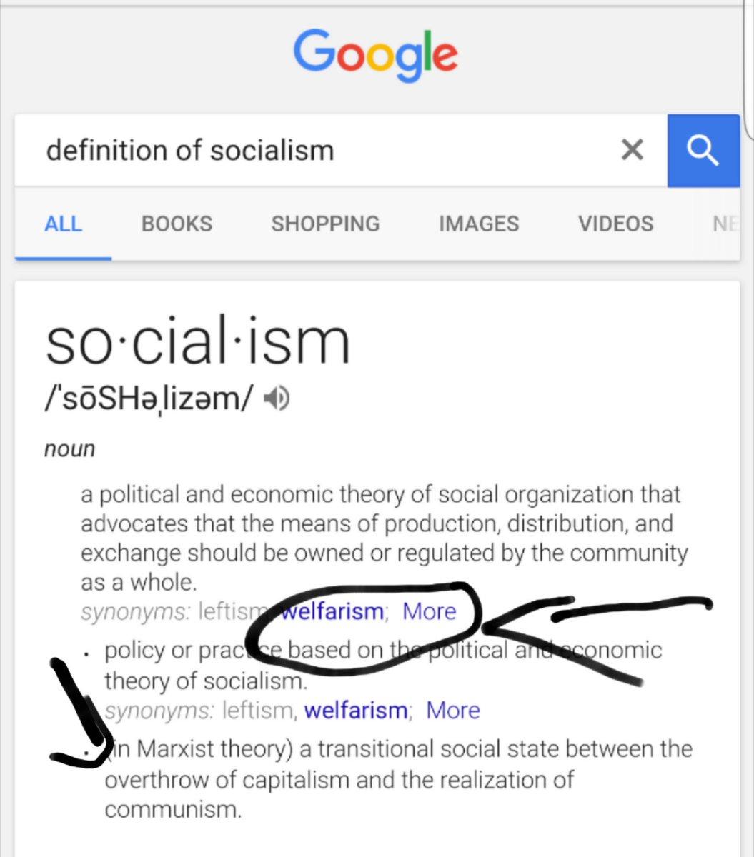 "shane bornstein on twitter: ""straight from @google socialism is"