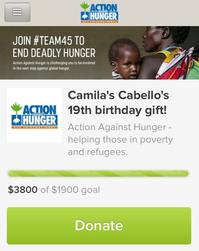 @CamilaCabello97 Your first gift is from us on @SurpriseMila! We raised $3,800 with the help of lovely people: https://t.co/YjpemSKvzy