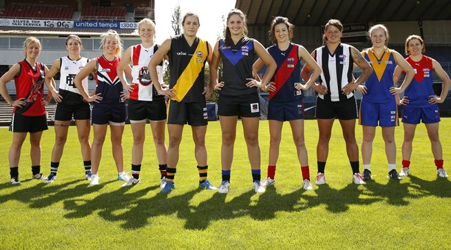 A new era in Victorian women's football begins with the launch of  #VFLWomens. Full fixture: https://t.co/6cBUEYJ5pp https://t.co/QU7Wd0HJbm