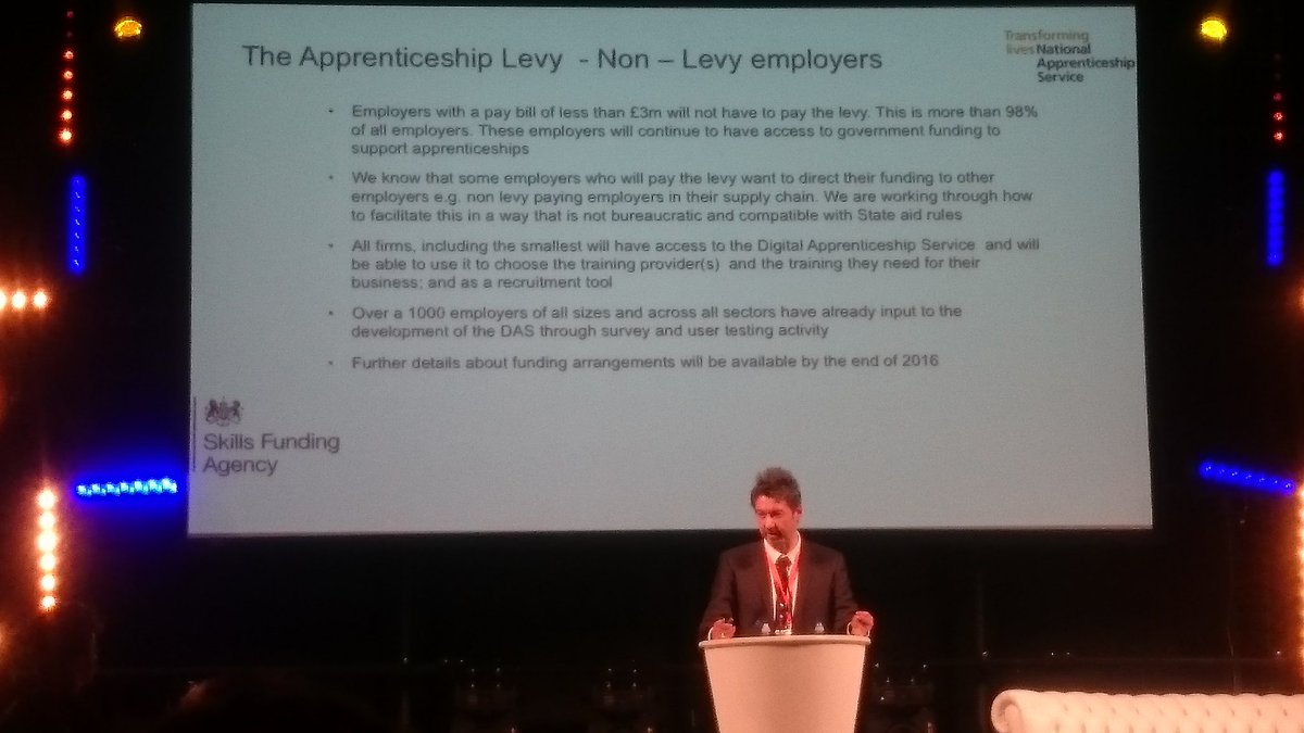 "Apprenticeship funding for non-levy payers to be decided ""by the end of the year"": Greg Dean, NAS #CreativeNationUK https://t.co/KgOPFLT6nz"