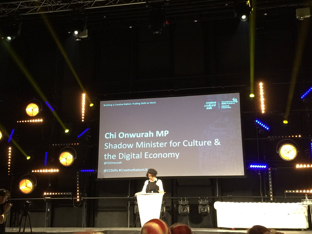"""Cultural&digital economy are important for identity & how we identify with others"" @ChiOnwurah #CreativeNationUK https://t.co/AGt7hblM1E"