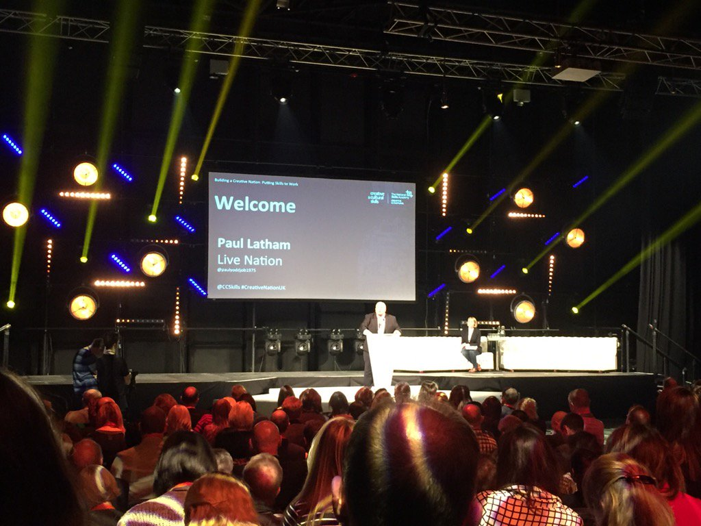 Here we go. Paul Latham gets the conference underway..#CreativeNationUK https://t.co/X8KKdIs3GR