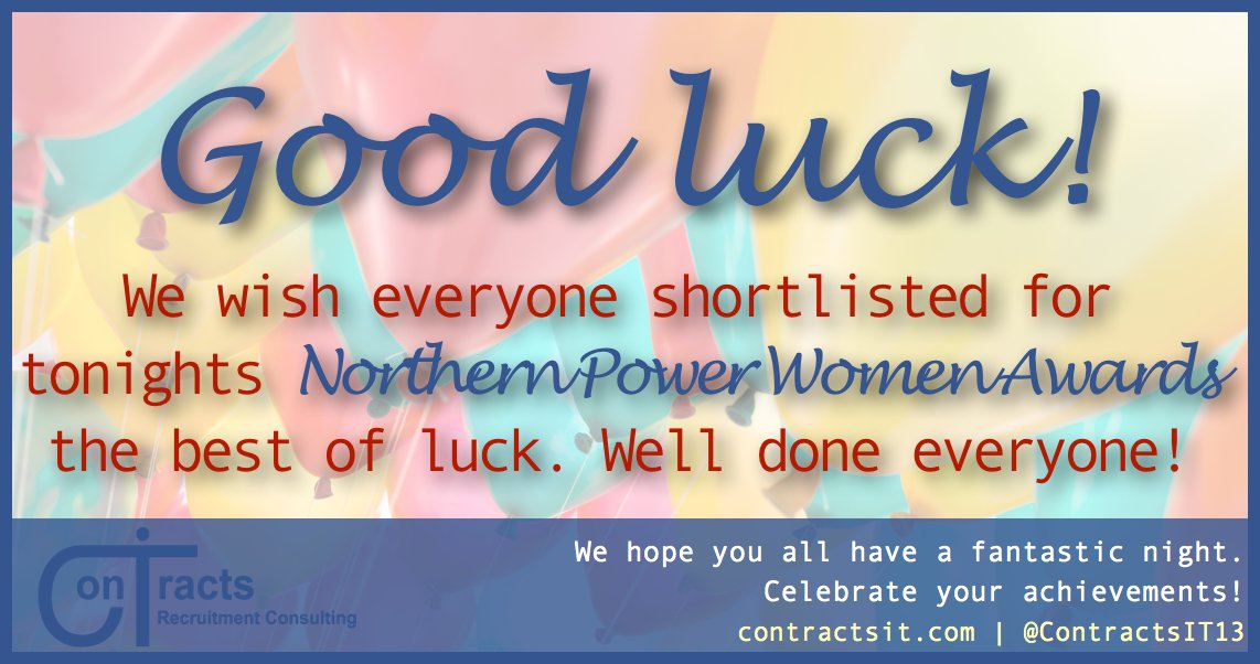 We wish everyone shortlisted for tonights @NorthPowerWomen Awards the best of luck. Well done everyone! #NPA2016 https://t.co/C4HEPcIYOQ
