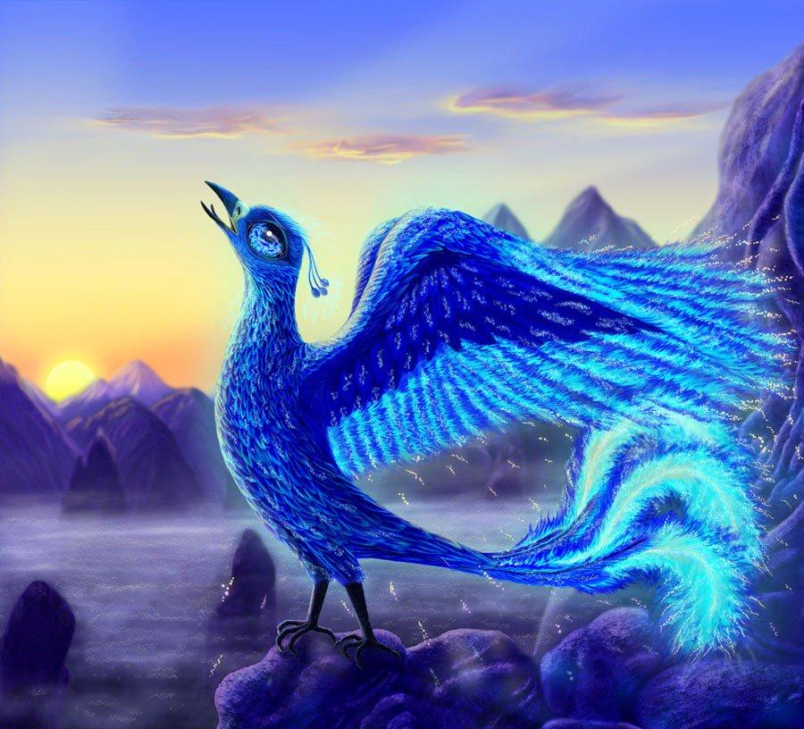 сказочная синяя птица счастья картинки