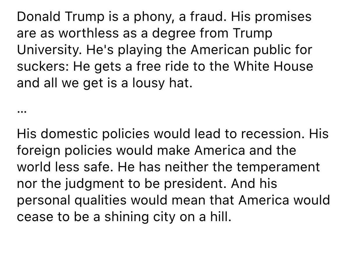 BREAKING NOW: 1st excerpts from Thursday @MittRomney speech on @realDonaldTrump https://t.co/FREhAFiTLs