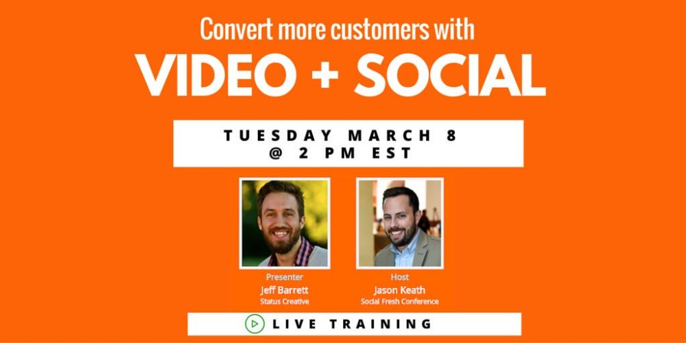 Everything you'll need for your video strategy this year.   Live training on 3/8 sign up --> https://t.co/9Cq1kCxFtX https://t.co/CI18fGKJOt