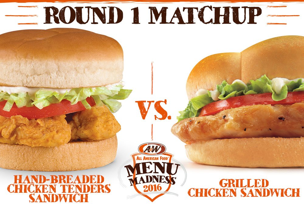 a w restaurants on twitter menumadness round 1 matchup rt for