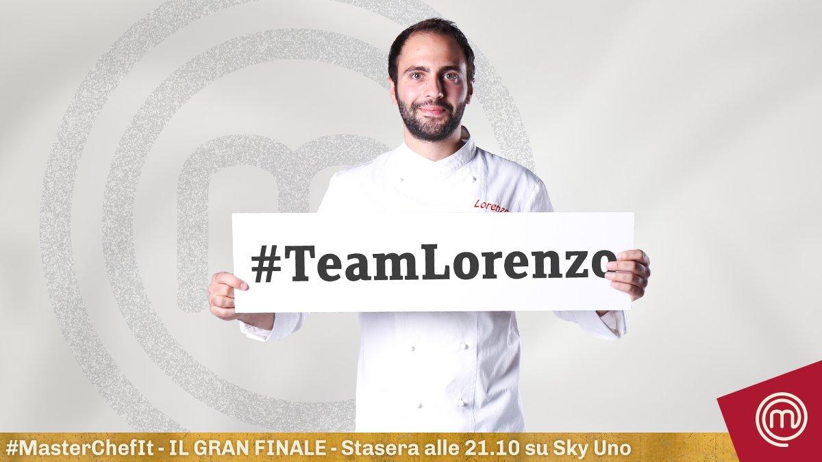 Nella finale di #MasterChefIt sarete solo #TeamLorenzo? Fate RT!
