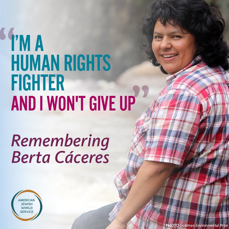 We are devastated by the murder of Berta Cáseres, a heroic defender of human rights & leader of AJWS grantee COPINH. https://t.co/igIoMbF4KX