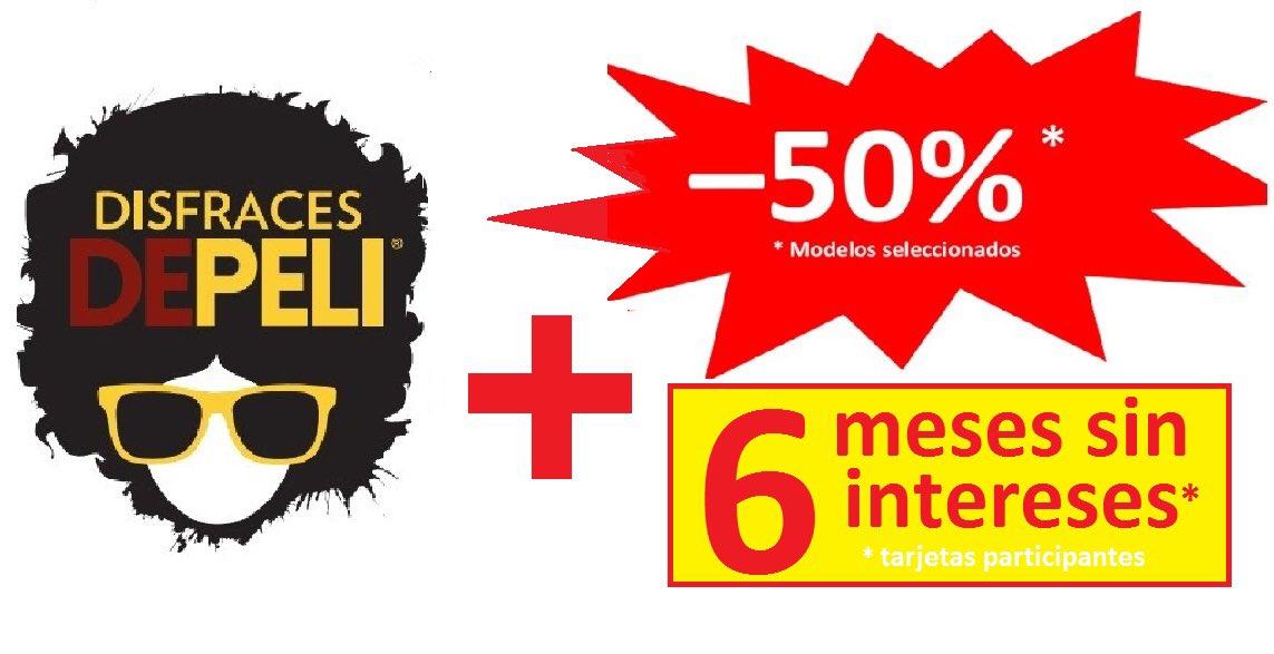 INCREIBLE !!! Ahora en #DisfracesDEPELI -50% + 6 meses sin intereses !