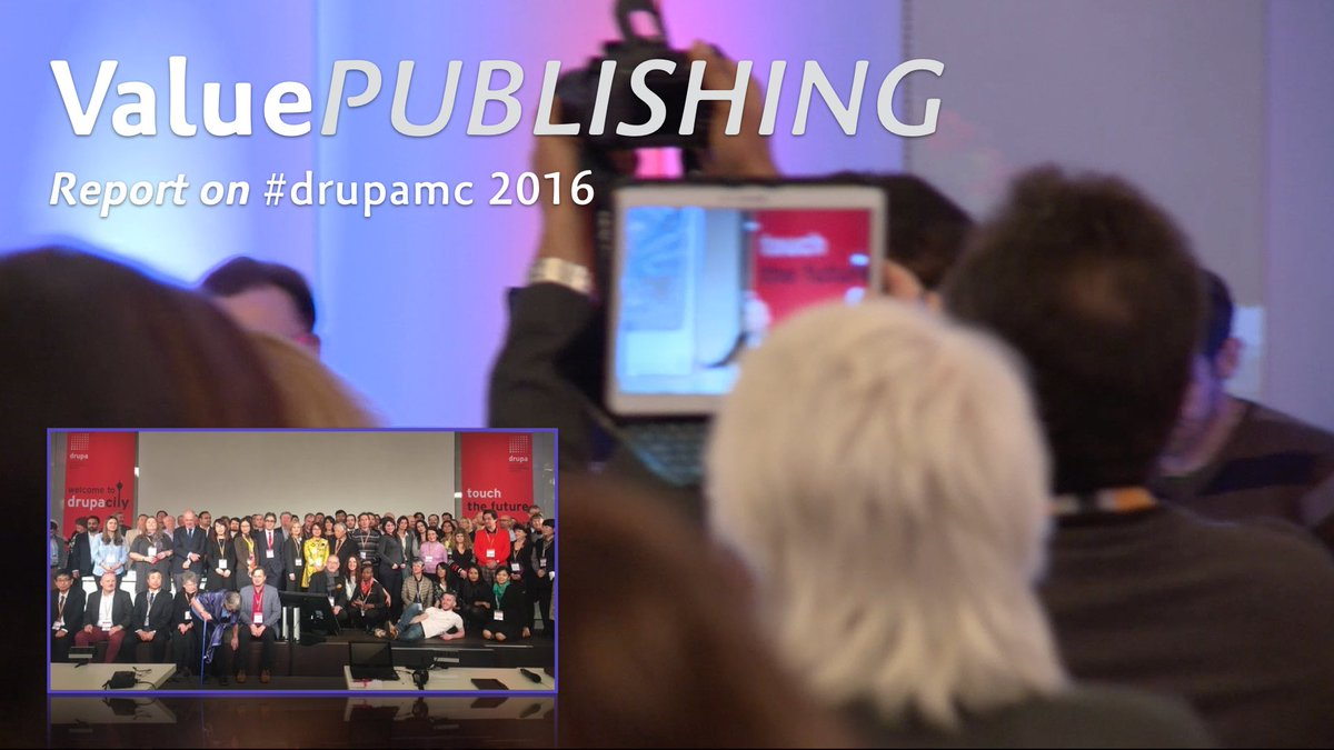 Wrap #drupamc  / Wichtigste der #drupa media conference #prrint #Multichannel #IoT #Cloud https://t.co/n8yRqAfk4R https://t.co/K8AUCpEe2u