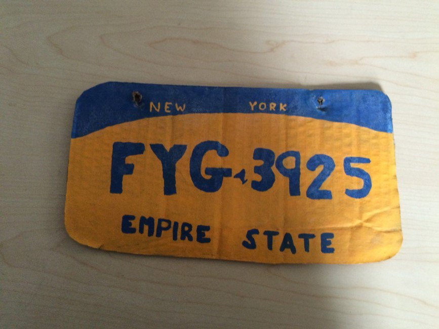 Woman arrested in Erie County for driving with homemade cardboard license plate. https://t.co/oXCZFE7RwD https://t.co/idkYvvFouO