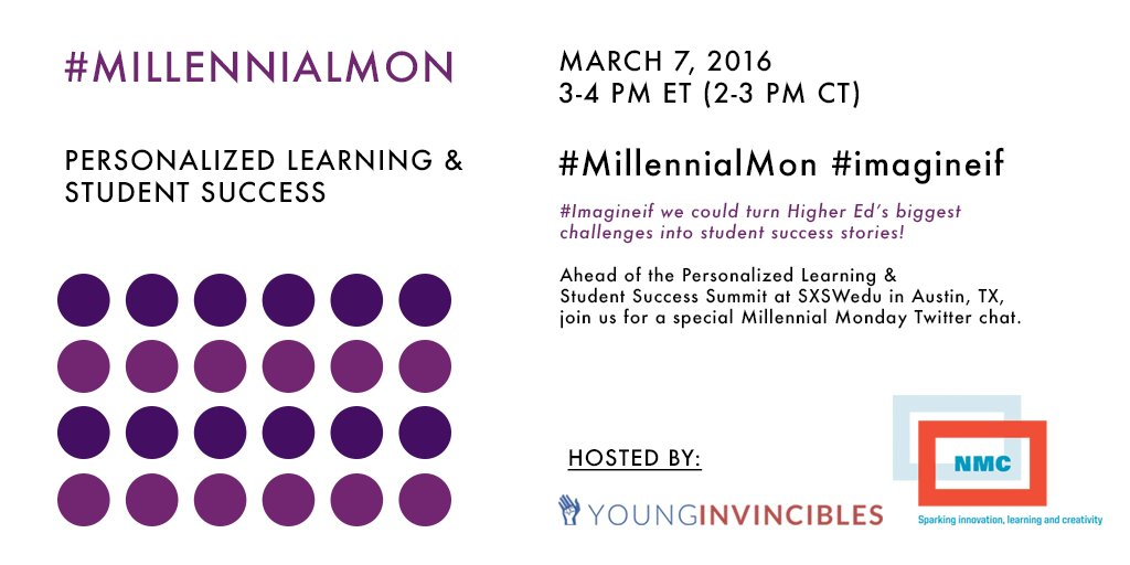#Imagineif we could end #edu inequity. Before #SXSWedu Summit, join us for #MillennialMon chat 03/07 3pm ET/2pm CT https://t.co/1kHRPLzPxp