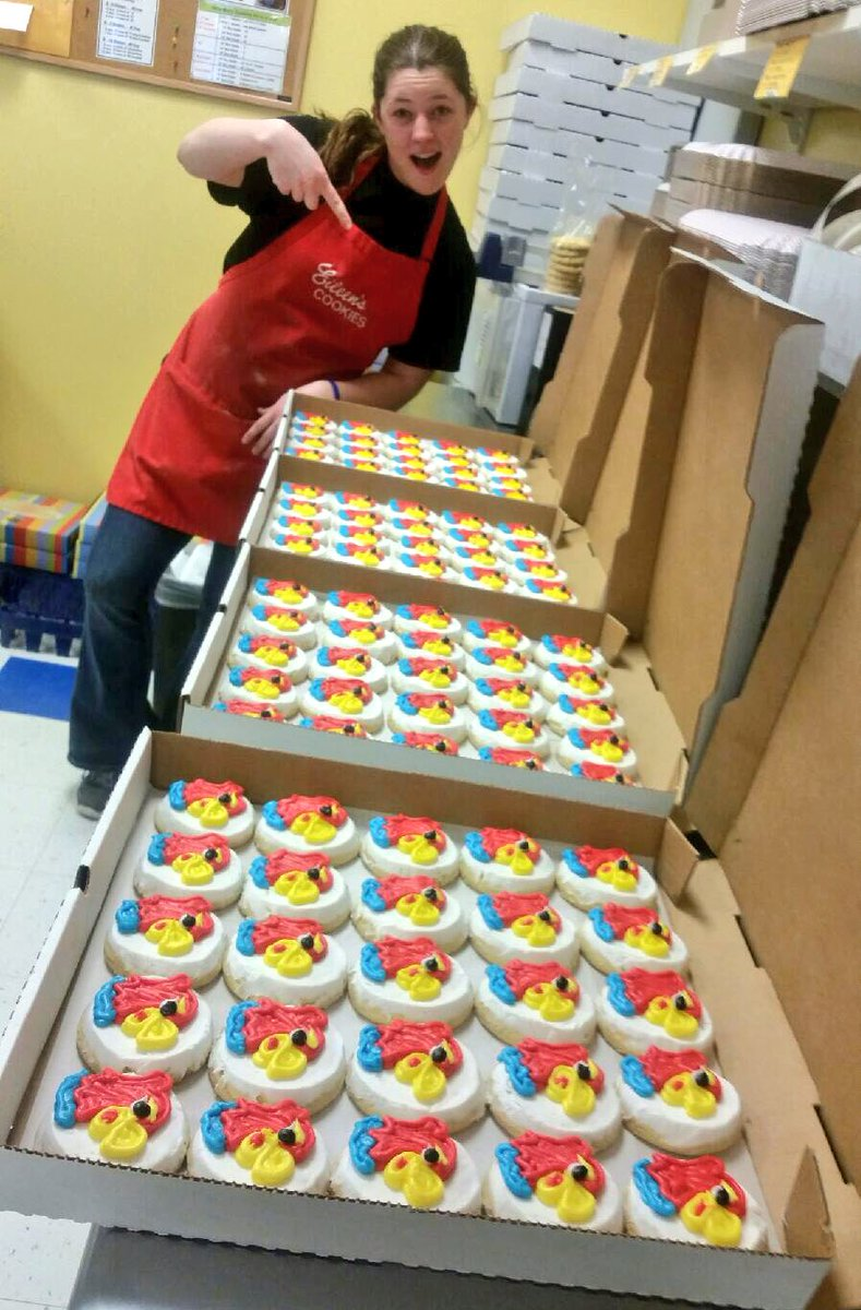 Eileen S Cookies Lk On Twitter Yesterday We Decorated 100 Jayhawk Cookies Get Ready For Marchmadness With An Eileen S Cookie Order 15 Dozen Https T Co Daifvghypq Cut into desired shapes with cookie cutters. eileen s cookies lk on twitter