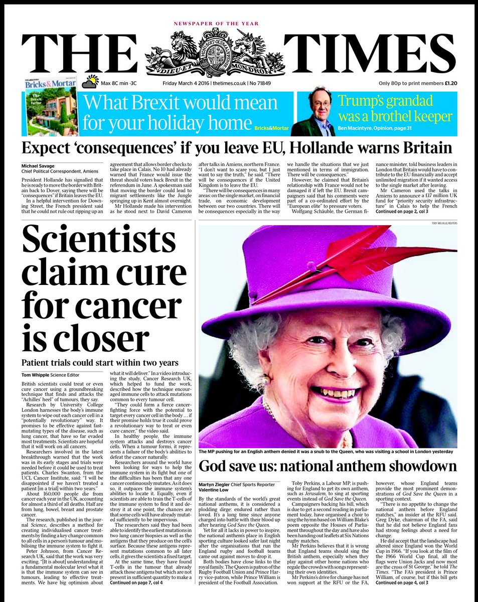 cancer research uk newspaper article Cancer research — this article is about research into cancer, in general for the uk based charity, see cancer research uk its focus is original research papers relating to cancer and cancer related biomedical sciences the first edition was published in 1941.