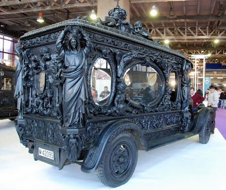 caitlin doughty on twitter vintage tricked out hearses from