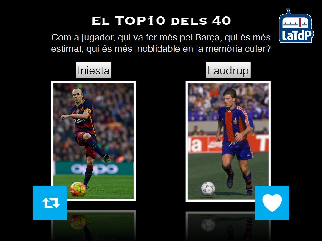 El TOP 10 dels 40 de @mariusserra  RT - Iniesta FAV - Laudrup https://t.co/mOUv8SP07P