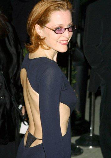 Gillian anderson thong