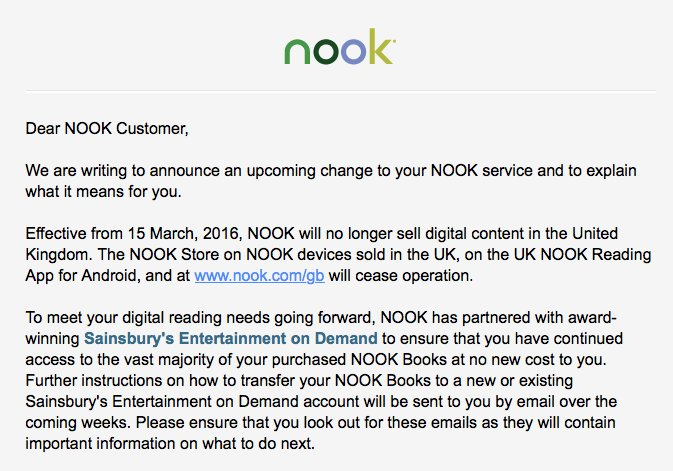 Nook email