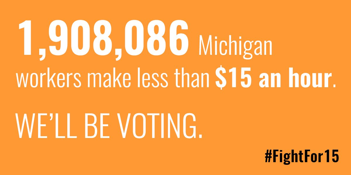 We are protesting the #GOPDebate because almost 2 Million Michigan workers are starving. #FightFor15 @Detroit_15 https://t.co/SNeWbJxSQQ