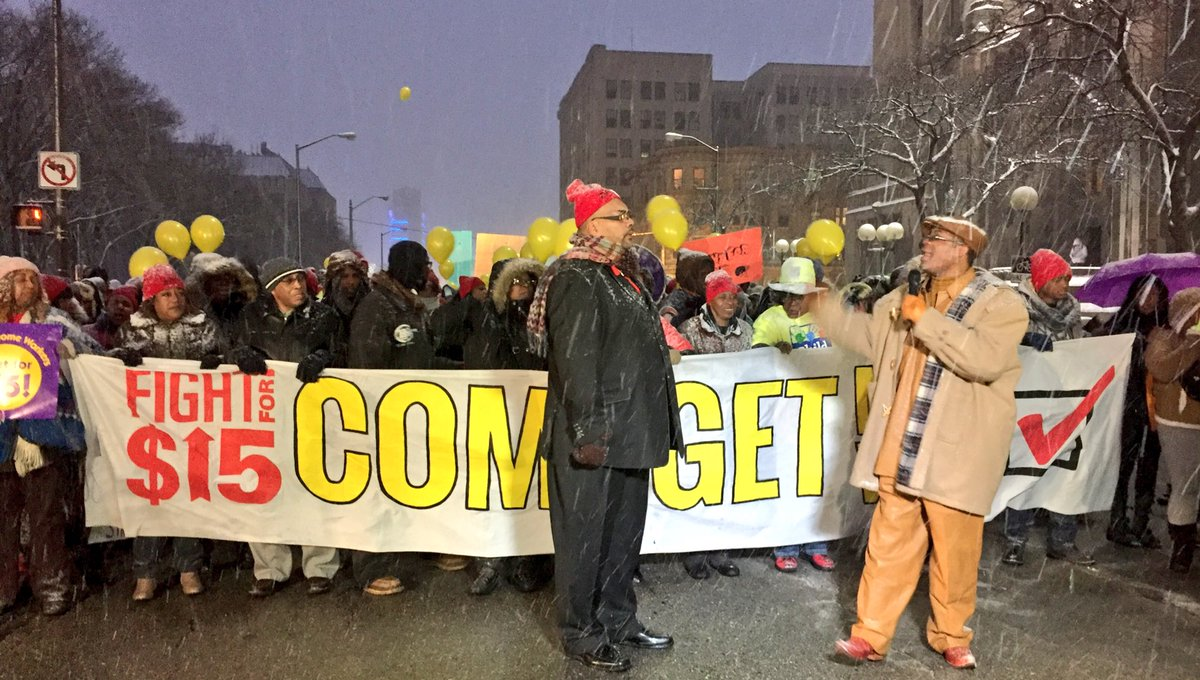 64 million workers are starving on poverty wages and we are done asking. We are fighting..#GOPDebate #FightFor15 https://t.co/Jl1uMH7fEj