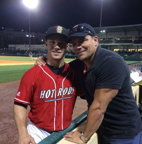 Which baseball player has the most jacked dad?