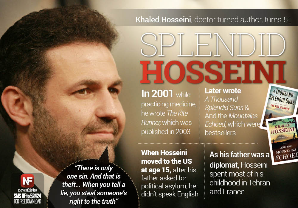 newsflicks on the author of the kite runner and a  newsflicks on the author of the kite runner and a thousand splendid suns khaled hosseini turns 51 t co t4qt7lhcvv