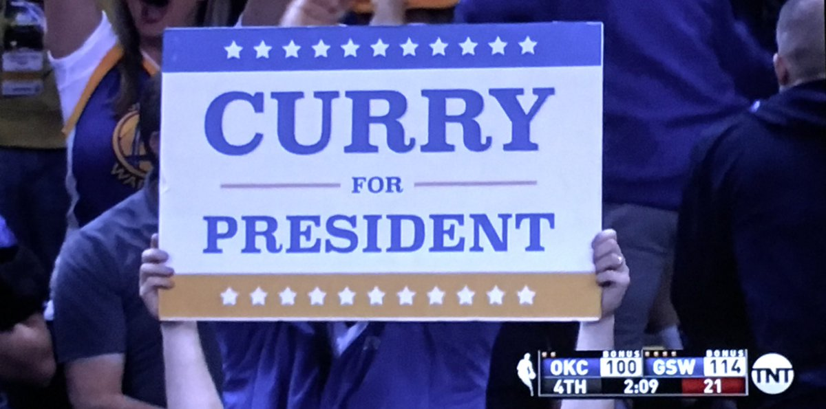 Curry for President. Makes at least as much sense as the GOP clowns.   #curryforpresident #GOPDebate https://t.co/jtSqGKVrf0