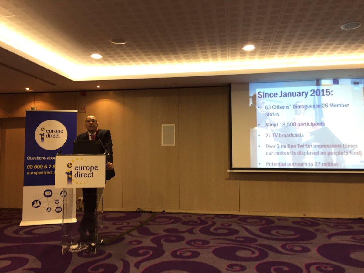 El Seminario #EDIC vuelve con la segunda jornada, que inaugura Alessandro Giordani y 'El diálogo con los ciudadanos' https://t.co/8csFgP8vKM