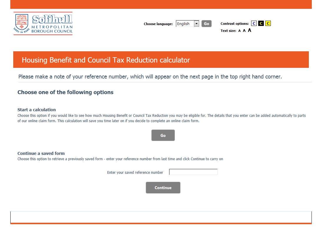 Rent council tax benefit calculator.