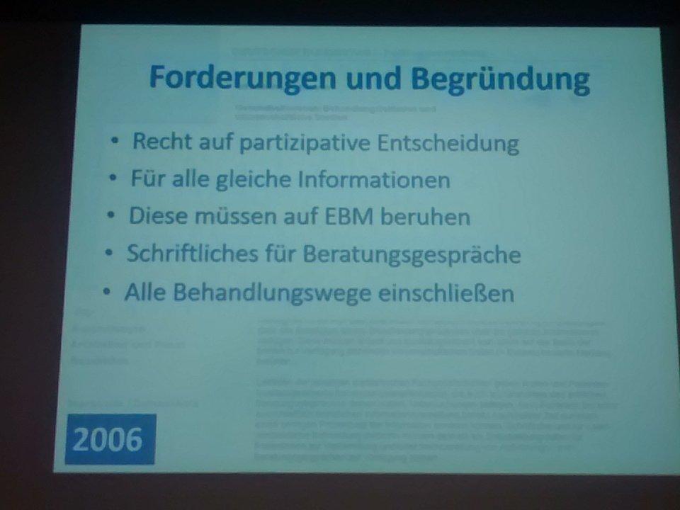 Petition im Bundestag fordert schon vor 10 Jahren partizipative Entscheidungsfindung #shareddecisionmaking #dnebm16 https://t.co/fCqczVeiWx