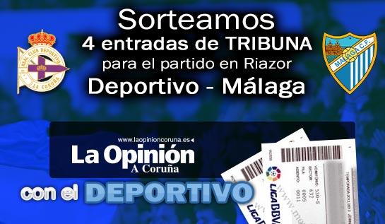 #SORTEO Si quieres ver al #DÉPOR contra el Málaga sigue a @laopinioncoruna y RT este tuit https://t.co/6qeRcgGdGu https://t.co/eLIIkfTjxy