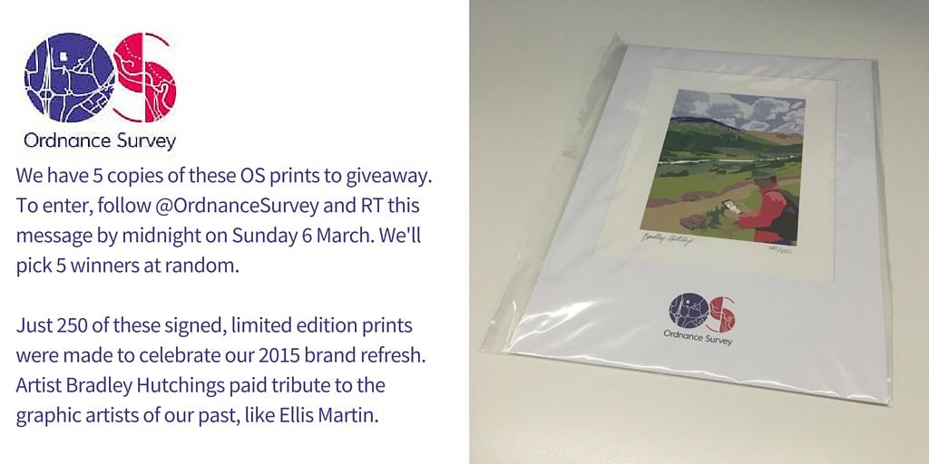 #FreebieFriday time - you could #win a limited edition OS print. Just RT & follow by midnight Sunday to enter https://t.co/dtTNDTCmXY