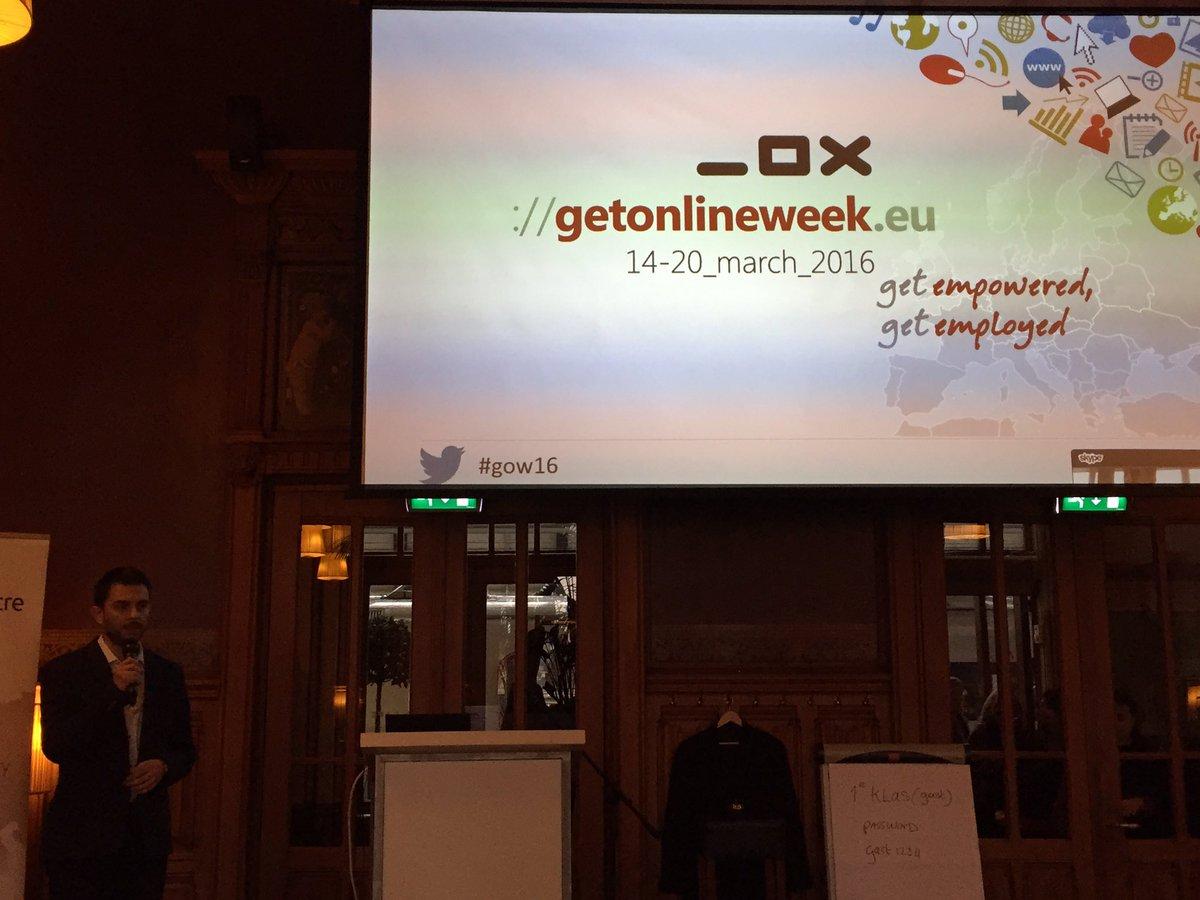 Official launch of Get Online Week 2016 #GOW16 #TEGA2016 @tc_europe @comunidadtc @fundaciondedalo https://t.co/vjpE3jUWCE