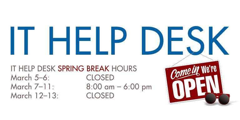 Smu Oit On Twitter The It Help Desk Will Have Reduced Hours