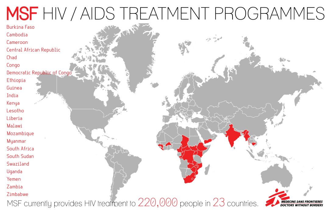 Doctors Without Borders Map on