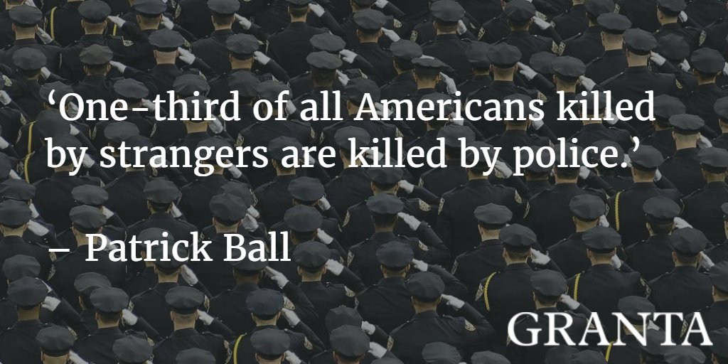 Patrick Ball measures undocumented police killings in the United States. https://t.co/IcwlHCm6SB https://t.co/g0KXJnWR93