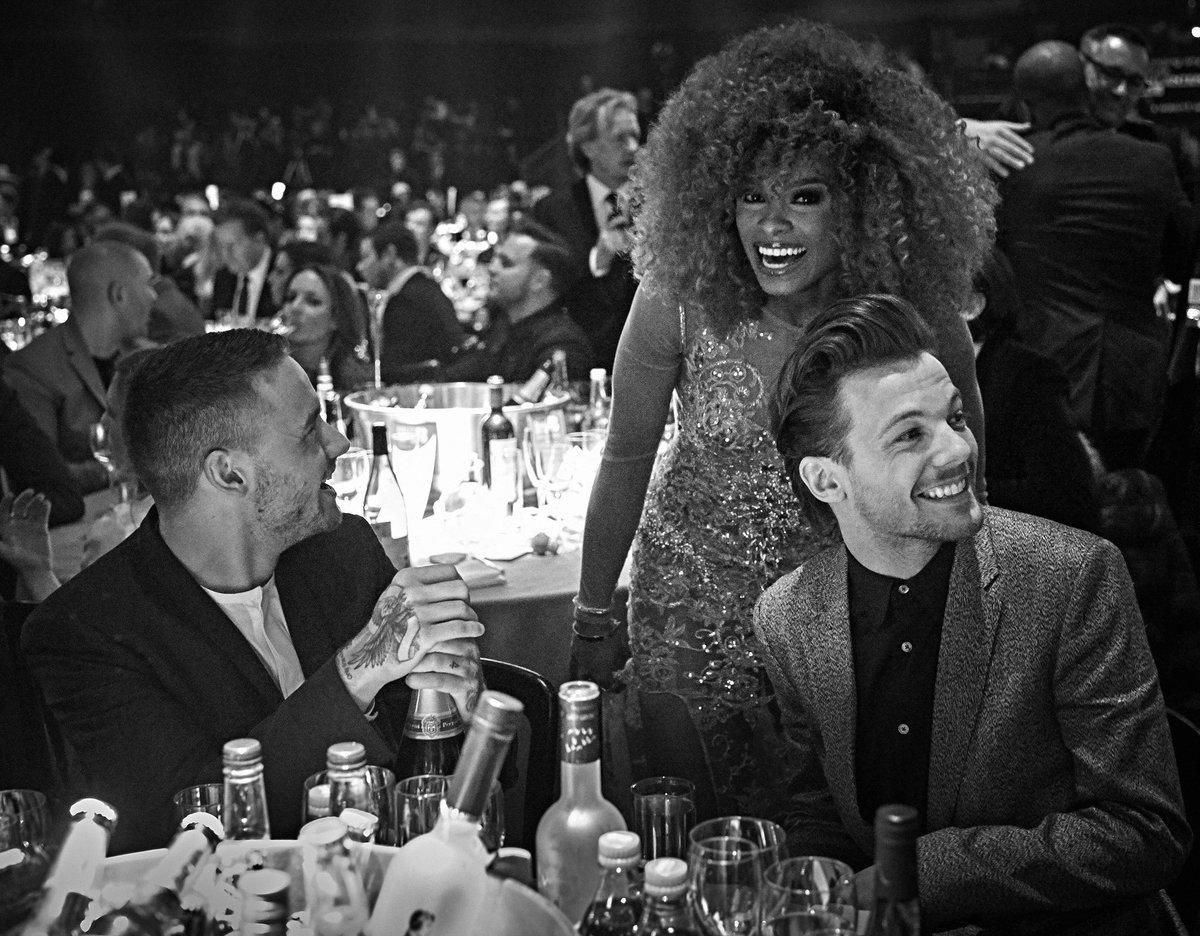 #Flashback to the @brits last week with @Real_Liam_Payne, @FleurEast and @Louis_Tomlinson!