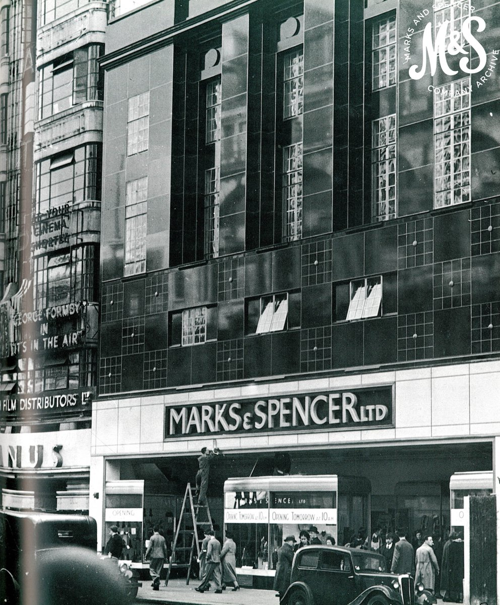 The finishing touches before the big day - Pantheon store the day before opening in 1938 #GeorgeFormby #OxfordStreet<br>http://pic.twitter.com/eCCRwE15ey