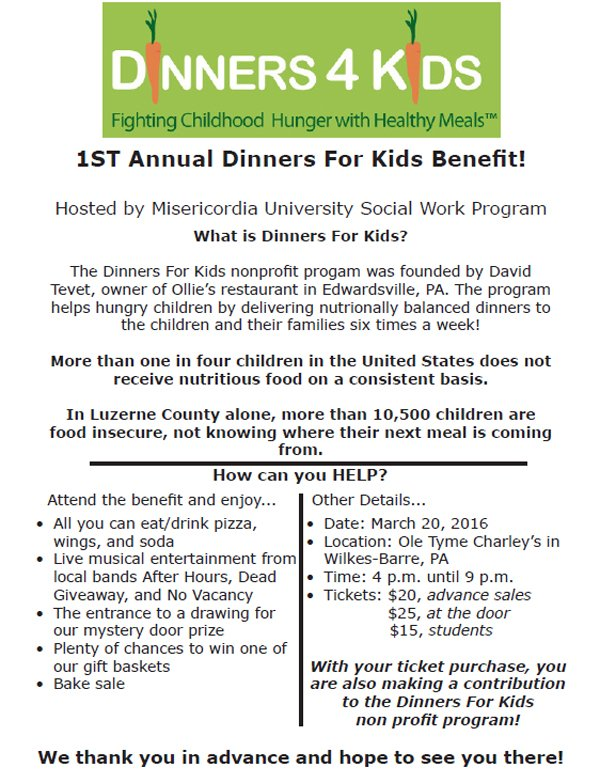 Join @MisericordiaU's Social Work program at their Dinner for Kids benefit! #MakeMercyReal https://t.co/MxS7P3xhA8 https://t.co/vKvclHjB9K