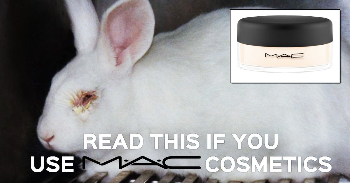 This is low, @MACcosmetics. If you thought #MAC was #CrueltyFree, you need to see this. https://t.co/uSzh7WaRGh