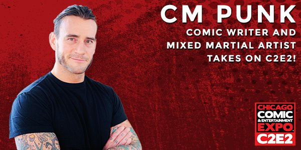 Comic Writer and Mixed Martial Artist @CMPunk is back at #C2E2! https://t.co/jxQUulRIhi https://t.co/YNCDA073Vm