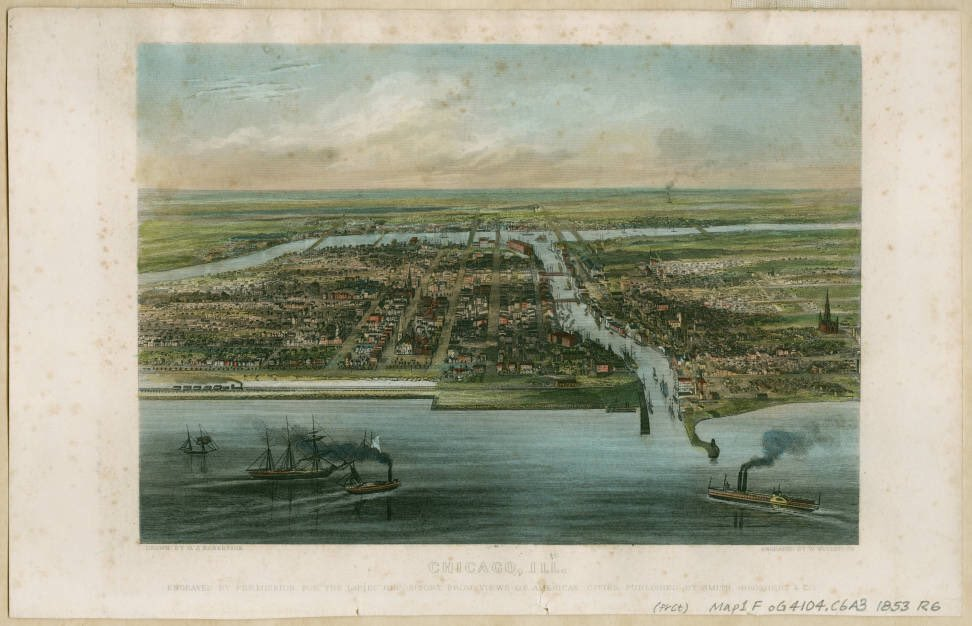Happy birthday, Chicago, incorporated #OnThisDay in 1837! Engraving from 1856. https://t.co/28m8iECTN2