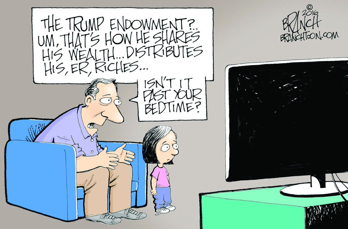 The Trump Endowment, Foundation, whatever... #DonaldTrump #Trump #shortfingers #GOPDebate #cartoon #politicalcartoon https://t.co/rxAieUkdK1