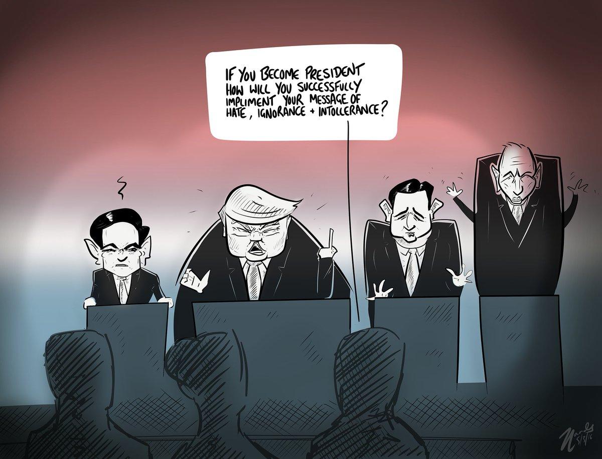 #GOPDebate #trump #cruz #rubio #Republican #NoToTrump #cartoon #USPolitics #PresidentialPrimary https://t.co/Xt06K6XZMO