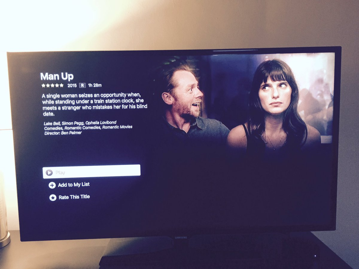USA! Man Up is on Netflix for your weekend delight and going forward, and I really like the still they've used ❤️