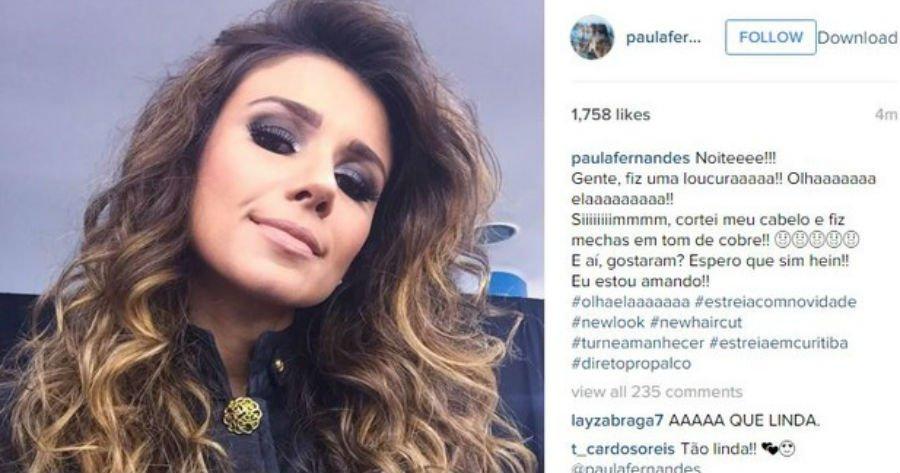 Ego On Twitter Paula Fernandes Posta Foto E Usa Bordão De