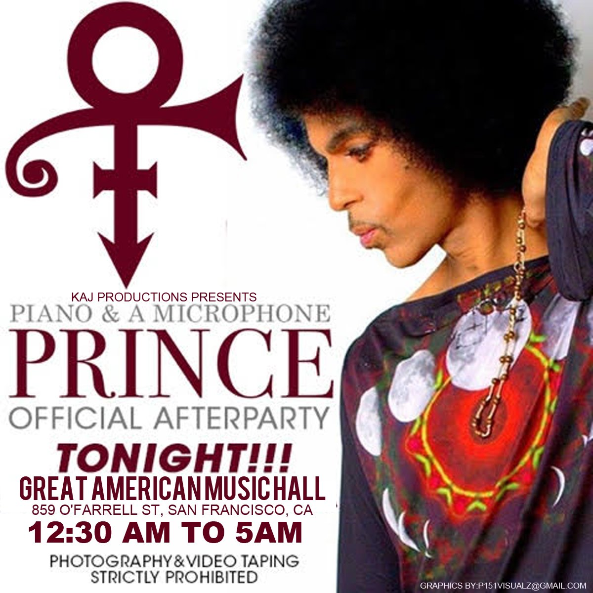 .@Prince3EG's after-party is at GAMH! $50 at the box office this evening (no advance sales & no lining up b4 11!) https://t.co/b11xE4x2Sr